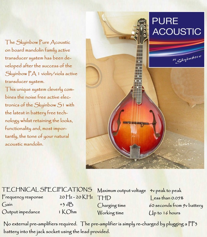 Pure Acoustic Mandolin Pickup Brochure